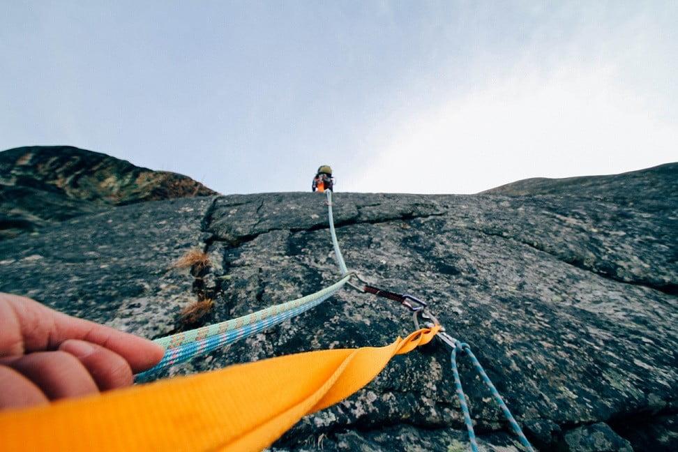 klimmen op een rots