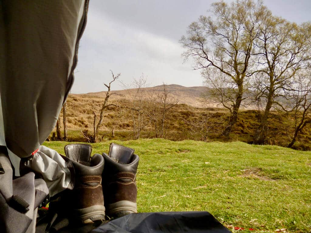 West Highland Way tentview
