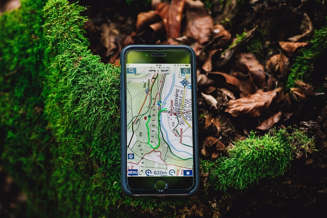 wandelnavigatie telefoon
