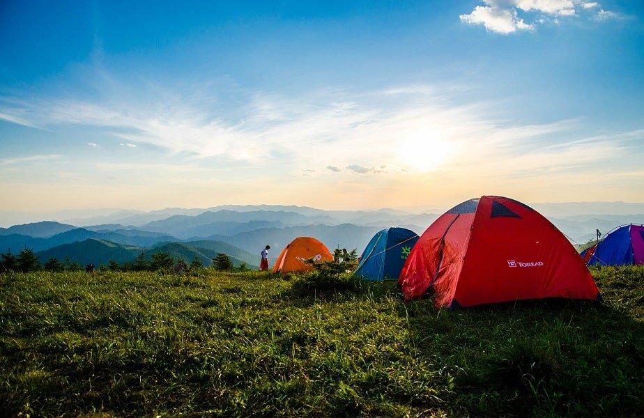 tenten op berg