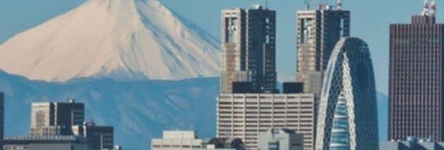 Tokyo zien vanuit Fuji