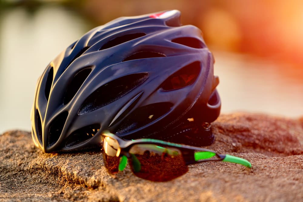 mtb helm close-up