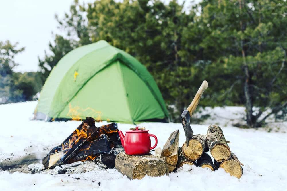 Tent In De Winter