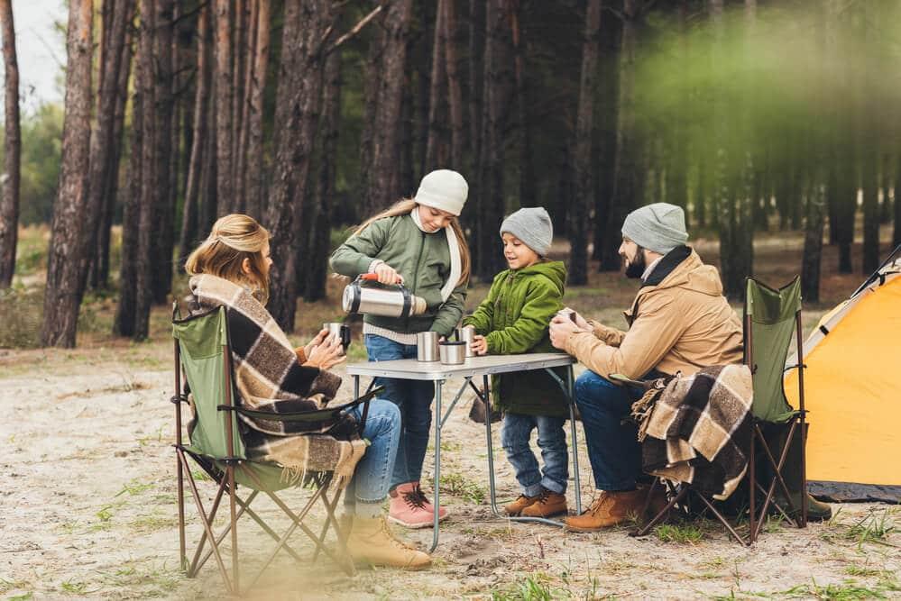 familie camping samen