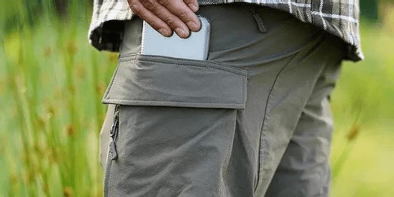 wandelbroek met zakken